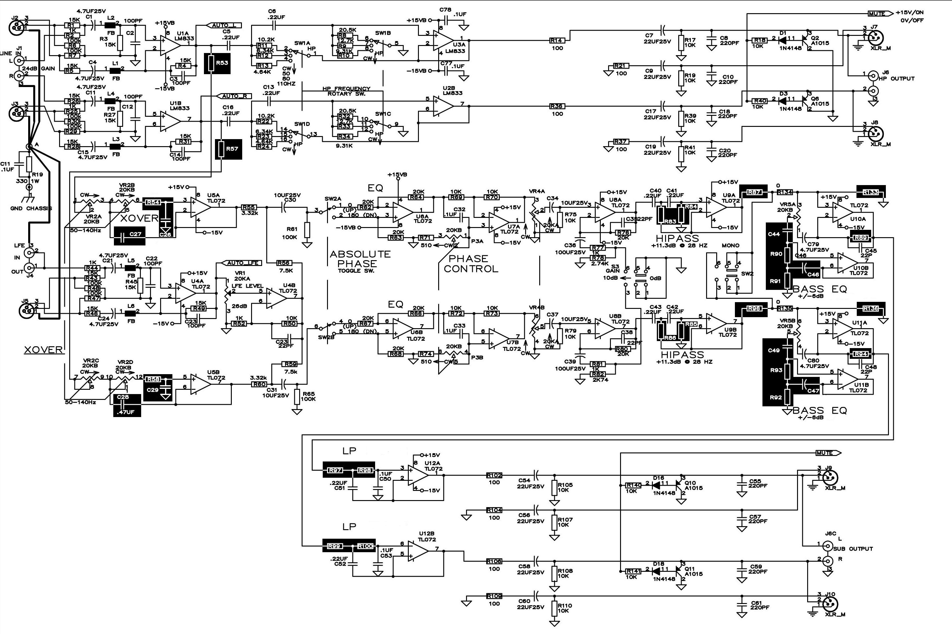 Amplifier And Crossover Wiring Diagram Schematic Diagrams Amp Behringer Auto Electrical U2022 Pa